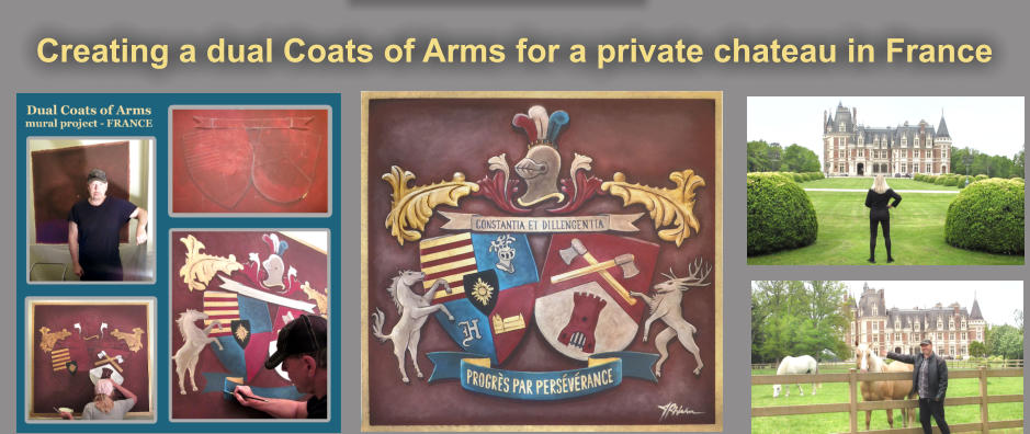 Creating a dual Coats of Arms for a private chateau in France